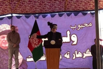 Heading high-level delegation, Ghani in Nangarhar